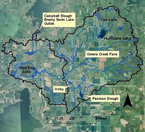 Northeast South Dakota Glacial Lakes Watershed  Blue Dog Lake